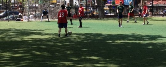 Photo taken at Lions Gate Soccer Field by Dino J. on 5/6/2012