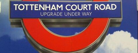 Tottenham Court Road London Underground Station is one of Zone 1 Tube Challenge.