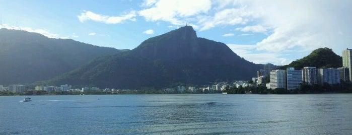 Lagoa Rodrigo de Freitas is one of Rio.