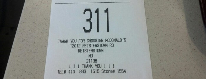 McDonald's is one of Favorites.