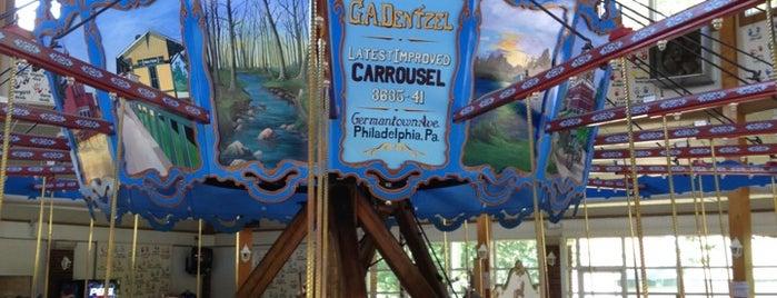 Dentzel Carousel is one of Indiana's National Historic Landmarks.