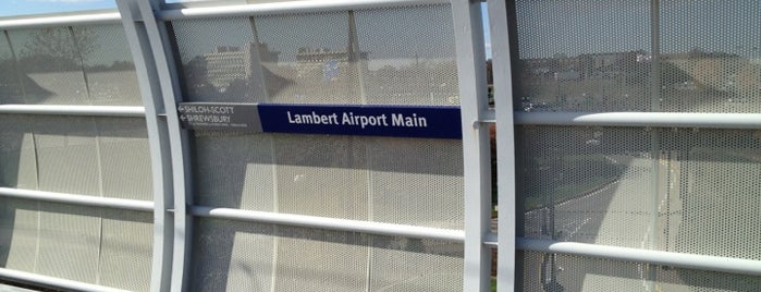 MetroLink - Lambert Airport Terminal #1 Station is one of public transportation bookmarks.