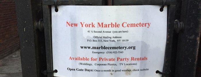 New York Marble Cemetery is one of Strange Places and Oddities in NYC.