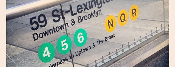 MTA Subway - Lexington Ave/59th St (N/Q/R/4/5/6) is one of Frequented.