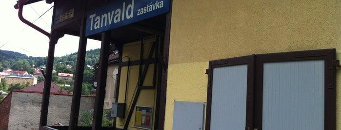 Železniční zast. Tanvald zastávka is one of Železniční stanice ČR: Š-U (12/14).