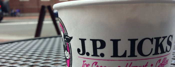 J.P. Licks is one of Food.