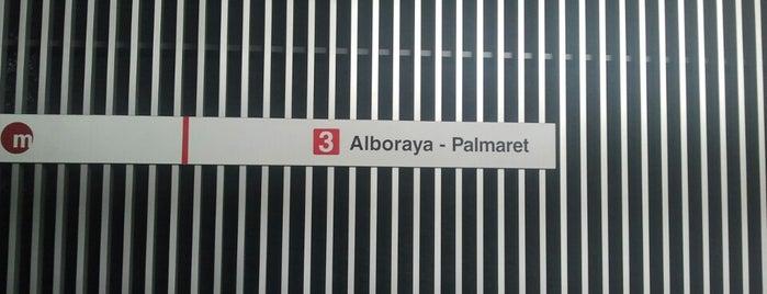 Estación de metro Alboraia-Palmaret is one of VENTA DE ENTRADAS FORMULA 1 Y MOTOGP VALENCIA.