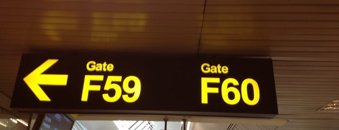Gate F60 is one of SIN Airport Gates.
