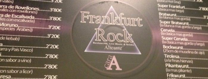 Frankfurt Rock is one of los mejores sitios para comer en Alicante.
