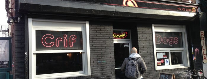 Crif Dogs is one of Things to C in NYC.