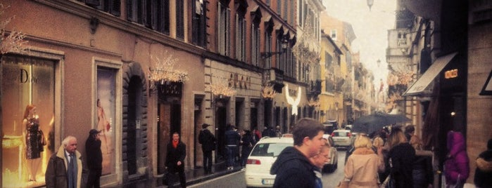 Via dei Condotti is one of 36 hours in...Rome.