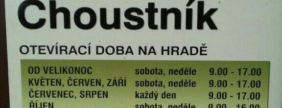 Hrad Choustník is one of Místa s vysílači Numitor.cz.