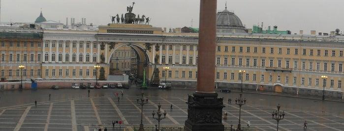 Alexander Column is one of Санкт-Петербург.