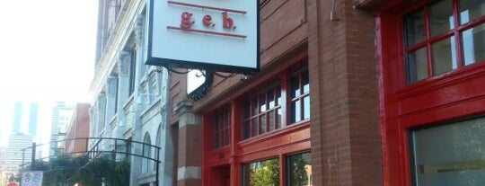 g.e.b. is one of Eating Chicago..