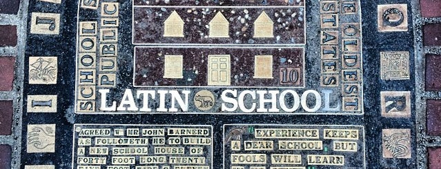 Boston Latin School Plaque is one of Hub History.