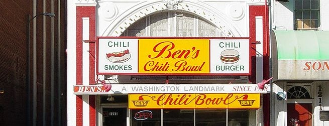 Ben's Chili Bowl is one of Must-See African American Historical Places In US.