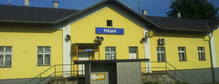 Železniční stanice Hájek is one of Železniční stanice ČR: H (3/14).