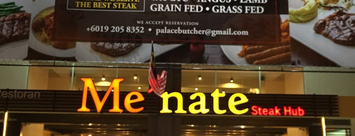 Me'nate Steak Hub is one of Must-visit Food in Kuala Lumpur.