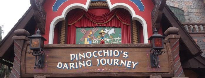 Pinocchio's Daring Journey is one of Disneyland Fun!!!.