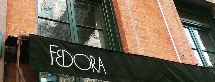 Fedora is one of The 38 Essential New York Restaurants, Summer 2016.