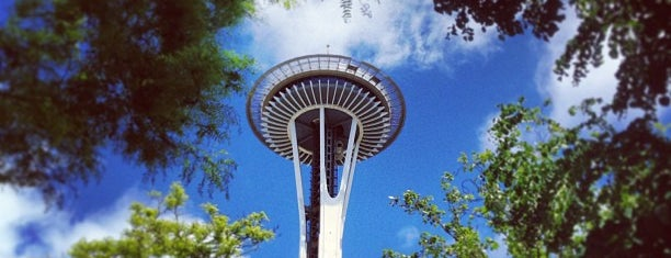 Space Needle is one of Seattle spots.