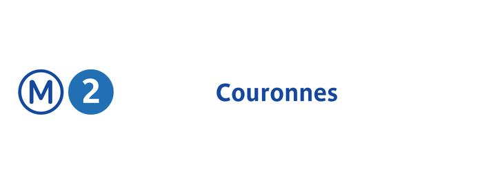 Métro Couronnes [2] is one of Métro de Paris.