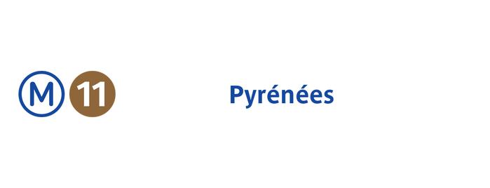 Métro Pyrénées [11] is one of Métro de Paris.