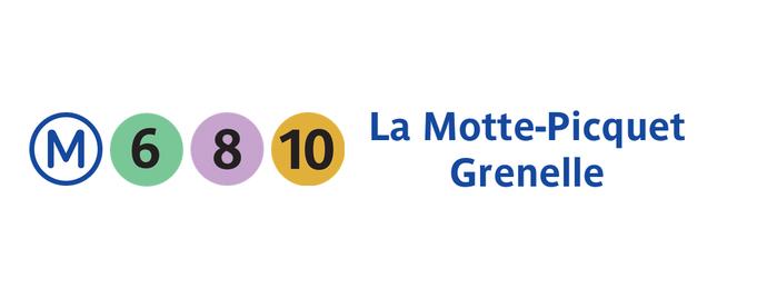 Métro La Motte-Picquet – Grenelle [6,8,10] is one of Loisirs.