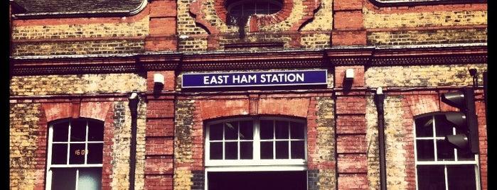 East Ham London Underground Station is one of Tube Challenge.