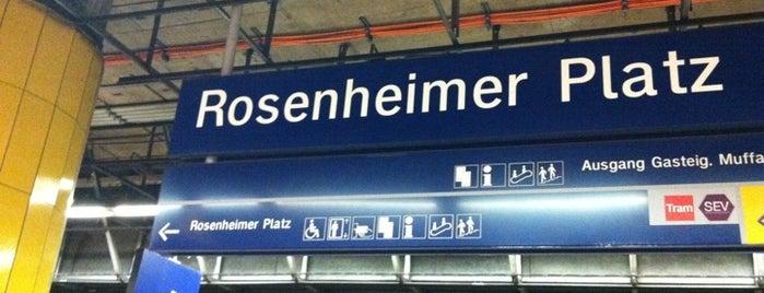 S Rosenheimer Platz is one of München S-Bahnlinie 4.