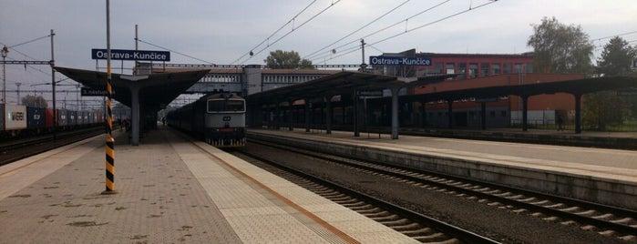 Železniční stanice Ostrava-Kunčice is one of Linka S1/R1 ODIS Opava východ - Český Těšín.