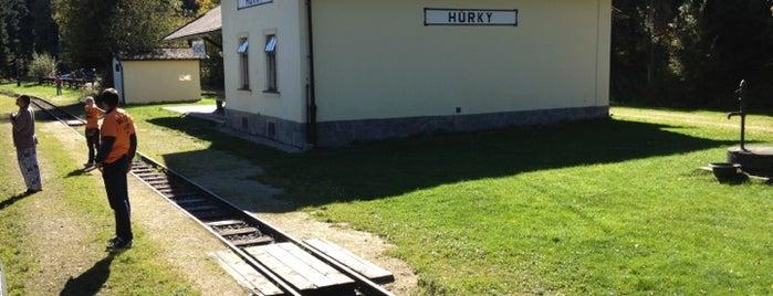 Železniční stanice Hůrky is one of Železniční stanice ČR: H (3/14).