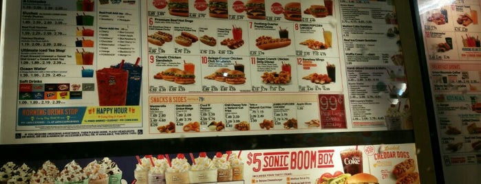 SONIC Drive In is one of Places I love go.