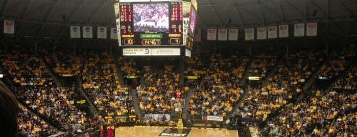 Charles Koch Arena at Wichita State University is one of work.