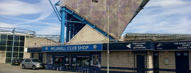 The Den is one of Football grounds visited.