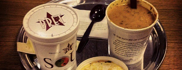 Pret A Manger is one of Richmond Good Food Guide.