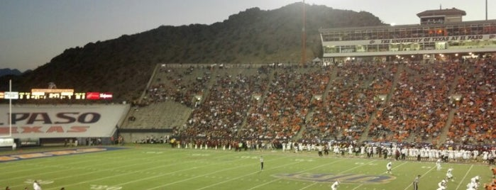 Sun Bowl Stadium is one of Conference USA Football Stadiums.