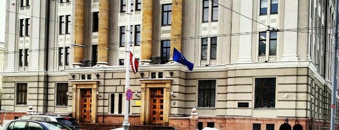 LR Ārlietu ministrija   Ministry of Foreign Affairs of the Republic of Latvia is one of Valsts iestādes/institūcijas.
