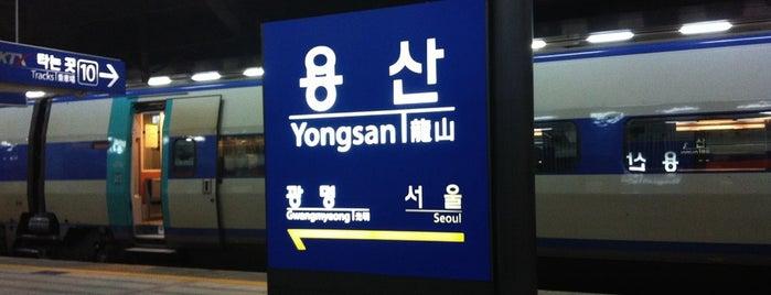 용산역 (Yongsan Stn.) is one of 10,000+ check-in venues in S.Korea.