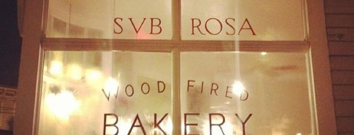 Sub Rosa Bakery is one of Go-to spots.