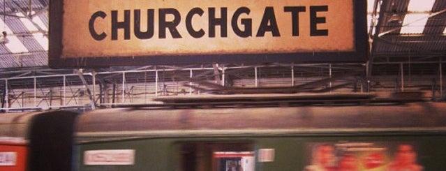 Churchgate Railway Station is one of Train station.