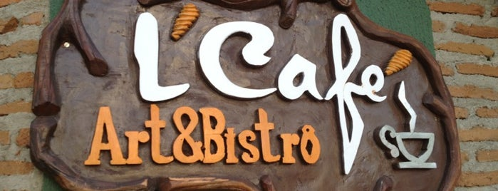 L'Café Art&Bistrô is one of Wi-fi grátis.