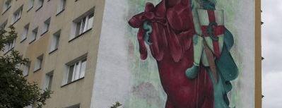 Lucas Lasnier aka Parbo / KidGaucho, Monumental Art 2012 is one of Murale Gdańsk Zaspa.