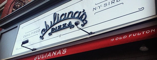 Juliana's Pizza is one of NYC.
