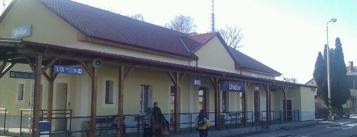 Železniční stanice Uničov is one of Železniční stanice ČR: Š-U (12/14).