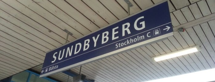 Sundbyberg (J) is one of Tågstationer - Sverige.