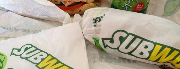 Subway is one of favourite.