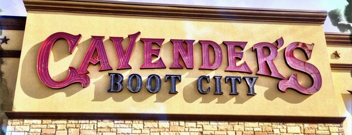 Cavender's Boot City is one of Austin.