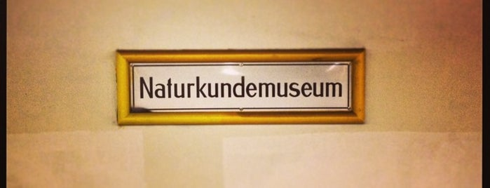 U Naturkundemuseum is one of Besuchte Berliner Bahnhöfe.