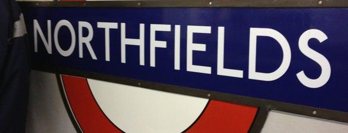 Northfields London Underground Station is one of Tube Challenge.